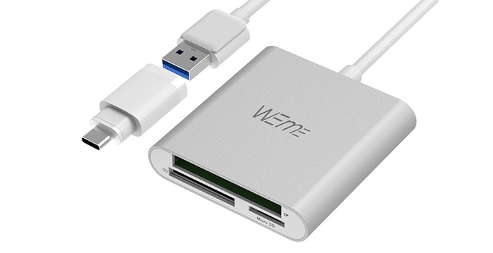 WEme CF SD card reader and USB-C adapters