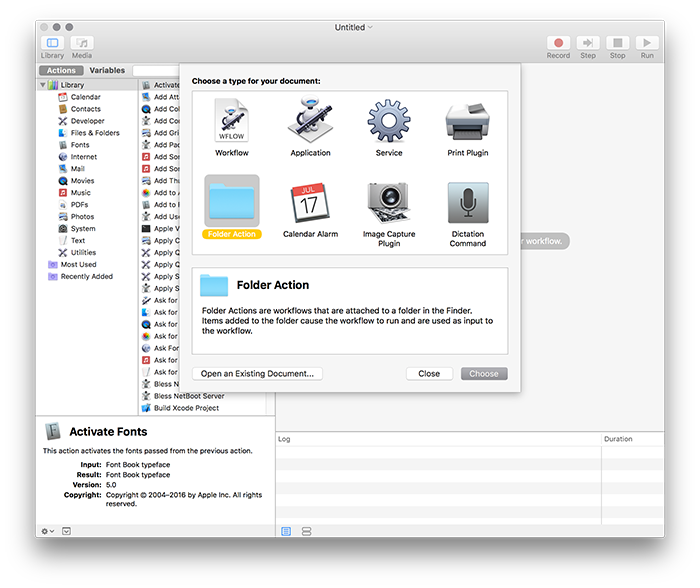 automator workflows resize images