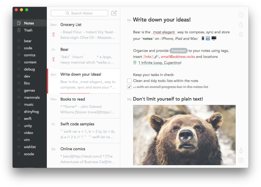 note-taking apps for college students bear