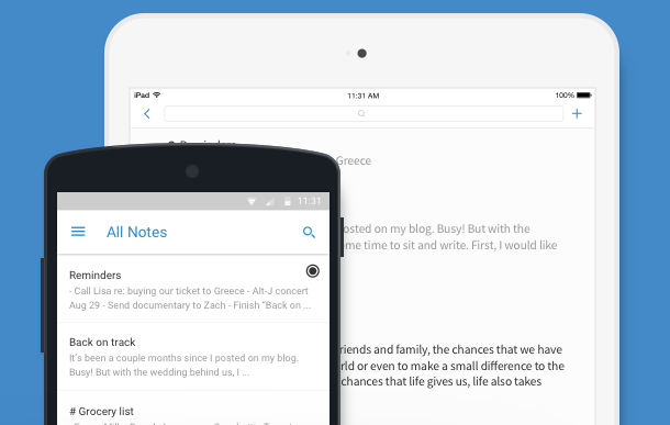 evernote alternatives simplenote
