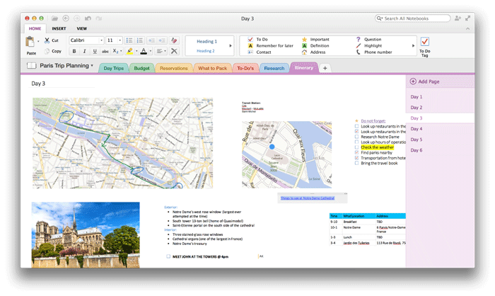 note-taking apps for college students onenote