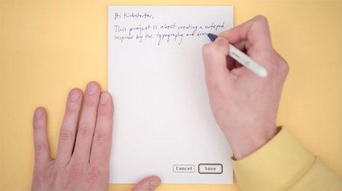 top apple kickstarter cancel save notepad