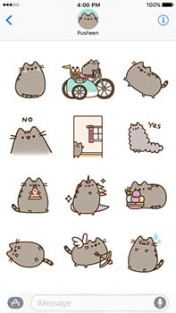 ios sticker packs pusheen
