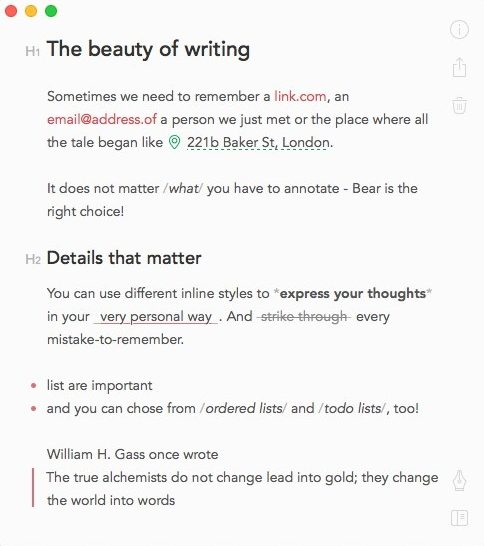 best markdown editors macos bear