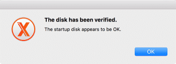 mac maintenance disk verification ok