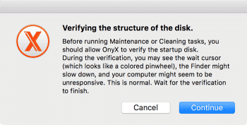 mac maintenance disk verification