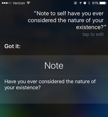 siri commands note