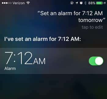 siri commands set alarm
