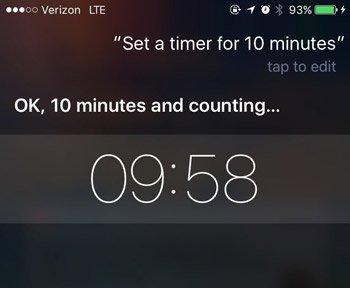 siri commands timer