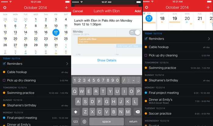 ios calendar app replacement fantastical