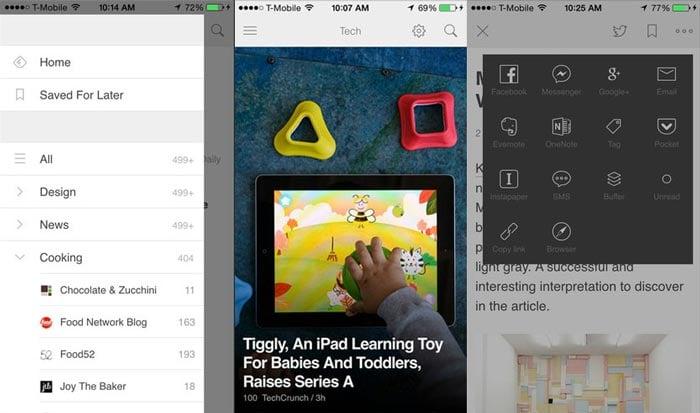 rss readers iphone ipad iOS feedly