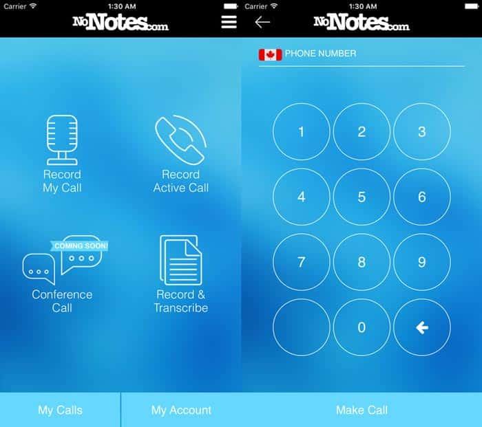 iphone call recording app nonotes