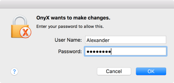 customize macos onyx-system-password