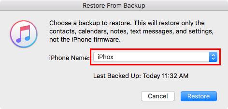 restore iphone backups