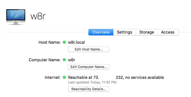 macos server change host name success