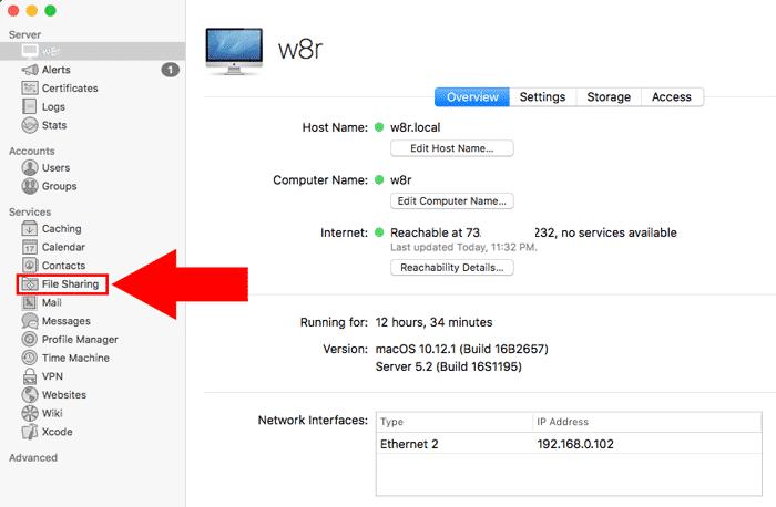 macos server file sharing sidebar