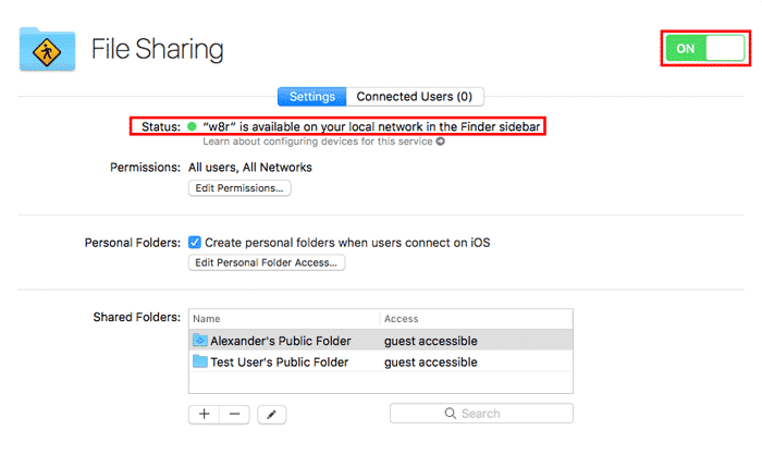 macos server file sharing on