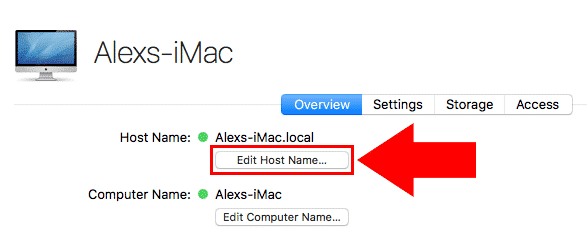 macos server edit host name