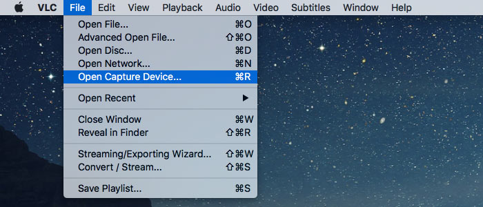 record your mac webcam open capture device