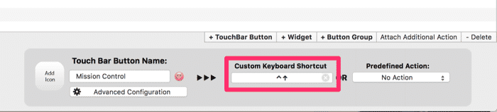 customize the touch bar global command