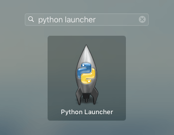 python 3 mac application launcher