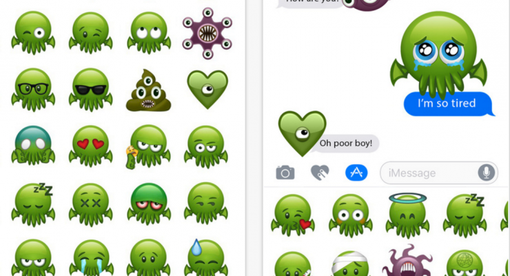 cthulhu stickers for imessage