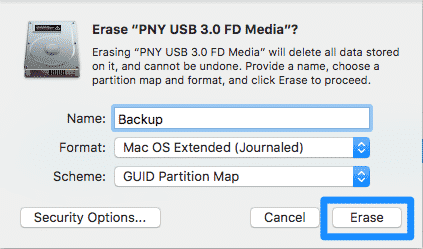 format hard drives with disk utility