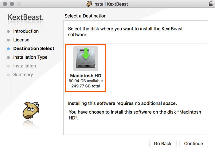 install kexts on a hackintosh kextbeast