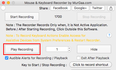 Record Mouse Activity in macOS
