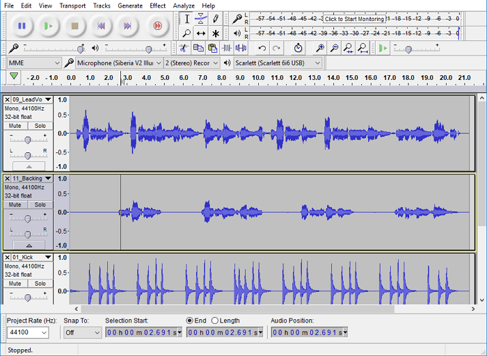 free podcasting software macos audacity