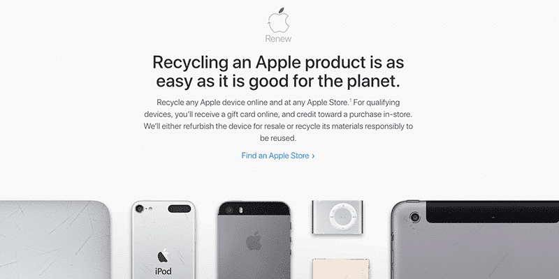 recycle iphone apple