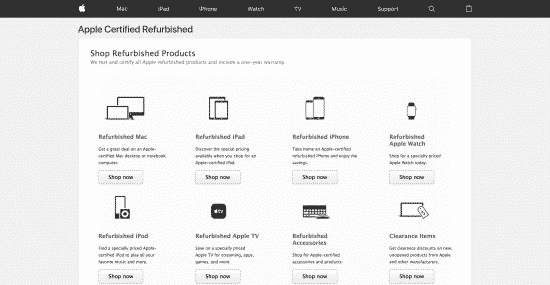 refurbished apple products online