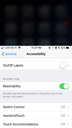 iPhone accessibility hacks reachability