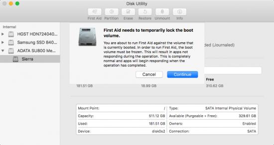 repair disk permissions 4