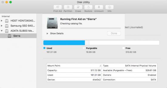 repair disk permissions 5