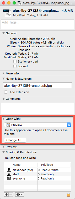 how to set preview as default pdf viewer on mac