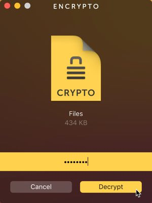 password protect folders encrypto
