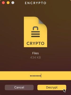 password protect folders encrypto