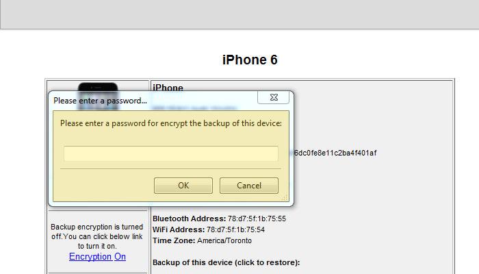 Encrypt Backup