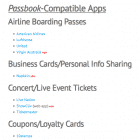 Passbook Apps List Updated