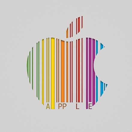 "This is cleverer than you may first think. The barcode actually spells out the word ""apple."""