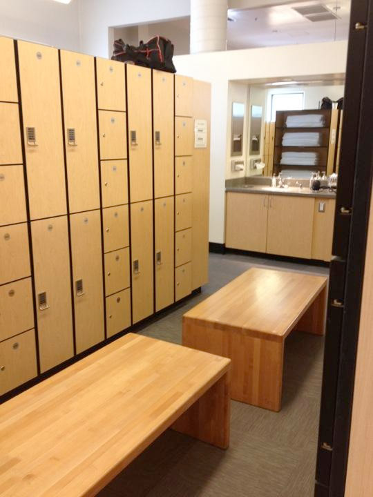 Lockers at the Bandley Fitness Center on the Apple campus