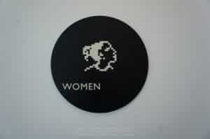Women's Room sign at Apple HQ