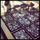 "This table full of iPads was dubbed the ""Hyper Table."" Here, it's on display at Apple HQ."