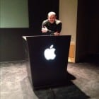 Podium inside Apple HQ