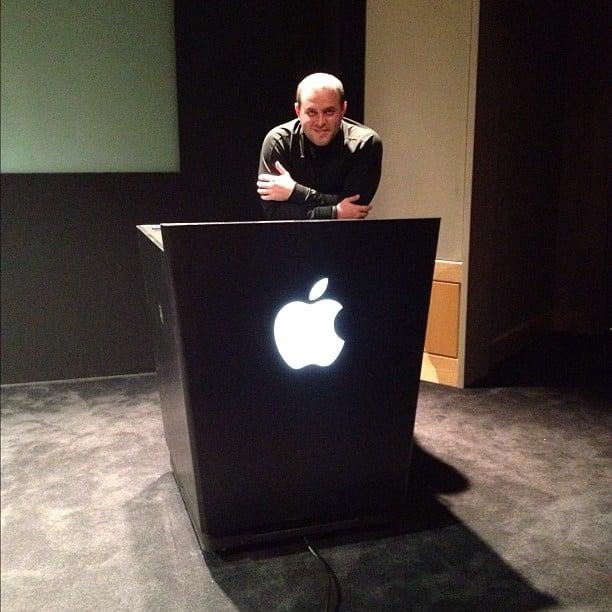 Podium inside Apple HQ