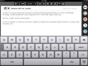 Blogsy for iPad