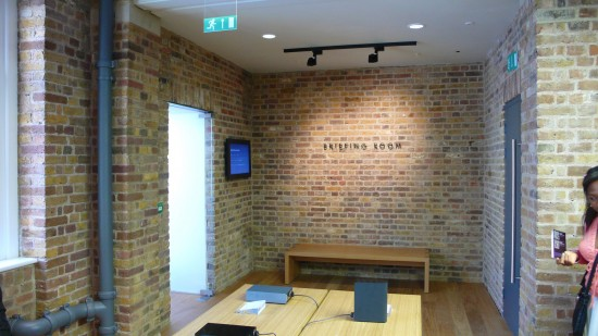 Just outside the Apple Store Briefing Room - in Covent Garden Store, London