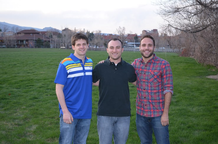 The Crono team: (l-r) Andrew Rothberg, Stephen Weigel, & Jack Freeman