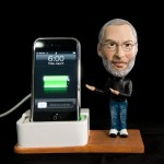 Custom Bobble Head Steve Jobs Dock for iPhone